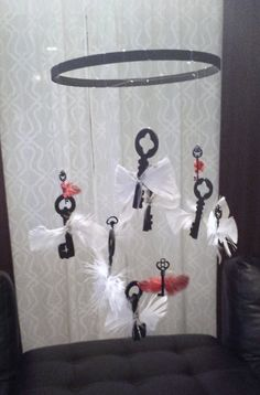 Harry potter themed flying keys mobile by E3Homes on Etsy, $20.00  Did you already see this?  Crazy!