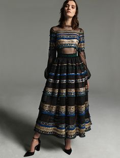 Costarellos Ready to Wear - Fall Winter Collection Ball Dresses, Evening Dresses, Winter 2017, Fall Winter, Lovely Dresses, New Wardrobe, Knitting Designs, Hippy, Dress Collection