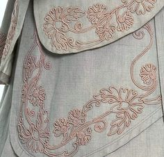 Tailleur, cotton, braid embroidery, France, 1907