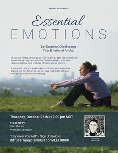 This week's topic is Essential Oils and Emotions. http://ift.tt/2wGbwpx