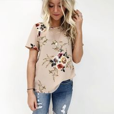 cd945219477 Large Size New Brand Summer T Shirt Women Fashion Casual Vintage Floral  Print Tshirt Plus Size Elegant Office Tees Top Female