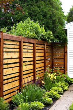 Inspiring Privacy Fence Design Ideas - Privacy fences have become one of the most ubiquitous neighborhood fence styles. A basic solid style cedar fence combines coveted seclusion from neighbors with a clean, simple look. Backyard Gazebo, Backyard Plants, Backyard Privacy, Backyard Lighting, Backyard Ideas, Garden Ideas, Wedding Backyard, Pergola Patio, Pergola Ideas