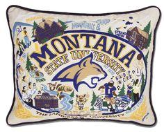 CatStudio Embroidered Montana State University Pillow
