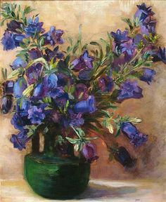 Still Life: Flowers in Vase; Blue Flowers by Maggie Laubser on Curiator, the world's biggest collaborative art collection. Art Floral, Flower Vases, Flower Art, Art Flowers, Still Life Flowers, South African Artists, Digital Museum, Collaborative Art, Botanical Prints