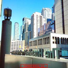 """This #Toronto landmark """"nerdlihC kciS rof latipsoH ehT"""" is located in the midst of the concrete #condo jungles🌇"""