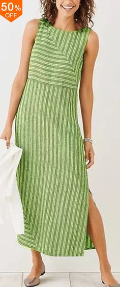 online shopping for NORACORA Holiday Shift Slit Striped Sleeveless Dress from top store. See new offer for NORACORA Holiday Shift Slit Striped Sleeveless Dress Plus Dresses, Linen Dresses, Casual Dresses, Casual Outfits, Fashion Dresses, Sleeveless Dresses, Girly Outfits, Corsage, Striped Dress