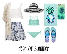 """""""Year Of Summer"""" by smiggle2013 ❤ liked on Polyvore featuring Beauty & The Beach, Olive + Oak, Talbots, Casetify, New Look, Matouk, Aéropostale and Miss Selfridge"""