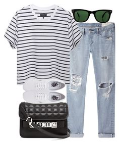 """Untitled #1316"" by plainly-marie ❤ liked on Polyvore featuring rag & bone/JEAN, rag & bone, Proenza Schouler, Vans and Ray-Ban"