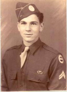 """William """"Wild Bill"""" Guarnere in a World War II-era photograph.  Guarnere was a member of Easy Company in the 101st Airborne Divison 2nd Battalion 506th Parachute Regiment Easy Company - more famously known as the """"Band of Brothers."""" He died on March 8 2014 at the age of 90."""