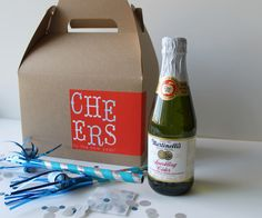 new year's in a box - all guests get one, or give as gifts to the neighbors