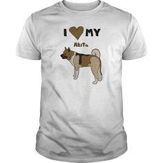 i heart my akita T-Shirts - Mens Premium T-Shirt