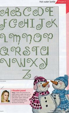 Cross-stitch #alphabet #monogram #abc's