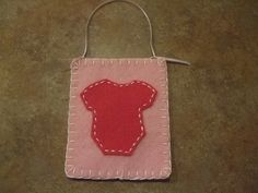 Felt Baby Wall hanger or Xmas Ornament Light Pink by itsCRAFTtime, $3.00
