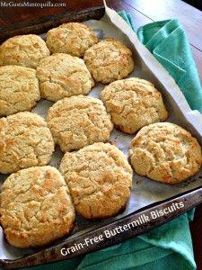 Primal Buttermilk Biscuits {Gluten Free, Grain Free, Sugar Free, Dairy Free}   #almonds #sugar