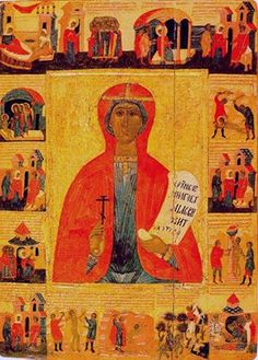 St Paraskevi, the Great Martyr Rich Family, Greece, Saints, Christian, Painting, October, Friday, Passion, Art