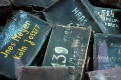 Suitcases stolen from people deported to Auschwitz