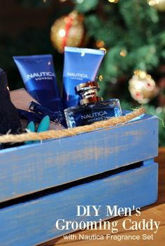 This DIY Grooming Caddy filled with Nautica Fragrance Sets is helping me give the perfect gift that brings back memories! Find out how to make it! #GiftingAMemory ad