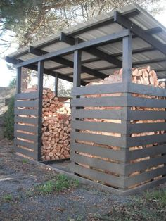 Amazing Shed Plans Woodshed for winter wood. - Gardening Inspire - Gardening Prof Now You Can Build ANY Shed In A Weekend Even If You've Zero Woodworking Experience! Start building amazing sheds the easier way with a collection of shed plans! Outdoor Firewood Rack, Firewood Shed, Firewood Storage, Stacking Firewood, Lumber Storage, Diy Storage Shed Plans, Wood Shed Plans, Wood Storage Sheds, Diy Storage Outdoor