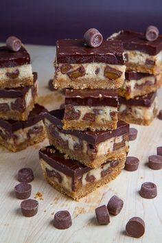 Rolo Cheesecake Bars