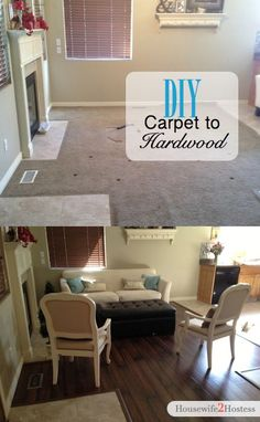 Before and After Hardwood Flooring