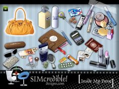 Because our sims have their stuff on their bags just like us  ^^ by SIMcredibledesigns.com  Found in TSR Category 'Sims 3 Downloads'