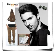 """18/2 # Banggood"" by hazreta-jahic ❤ liked on Polyvore featuring men's fashion and menswear"