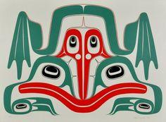 Frog (1989) by Robert Davidson, Haida artist (RD1989-06)