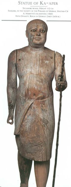 Ka-aper, priest of the Fourth Dynasty circa 2400 a. Cto. It has a height of 1.10 meters. Egyptian Museum, Cairo - Egypt.