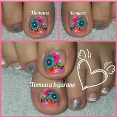 Me gusta Nail Arts, Pedicure, Nail Designs, Nails, Pretty, How To Make, Toenails, Toenails Painted, Lace Nails