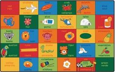 Bilingual Alphabet Blocks Classroom Rug