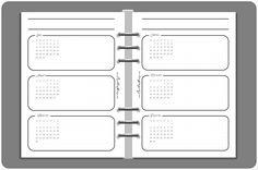 Kalendereinlagen 2019 - 1 Jahr 4 Seiten - DIN A5 Bullet Journal, Paper, Landing Pages