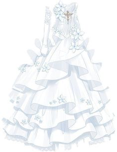 super pretty cute dresses in anime Dress Drawing, Drawing Clothes, Fashion Design Drawings, Fashion Sketches, Pretty Dresses, Beautiful Dresses, Kleidung Design, Anime Dress, Dress Sketches