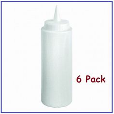 ChefLand 12 oz Plastic Squeeze Bottles Clear 6 Pack * Read more  at the image link.