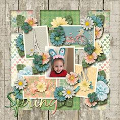 ARTIST: Robin created this beautiful layout with the newest digital scrapbooking template pack from Sherwood Studio THE PHOTO PROJECT - DIMENSION 3 and ROMANTIC SPRING http://www.thedigichick.com/shop/Romantic-Spring-Bundle.html