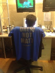 Sometimes people confuse Drew Goldfarb for Matt Laubhan. Drew made a t-shirt to help clear things up.
