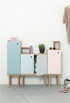 Delicado aparador minimalista colores pastel • Pastel colours sideboard, minimalist Ex.t