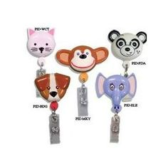 Make the little ones smile with these cute animal badge retractors!    *Holds I.D. badge or keys (NOT for radiation badges!)  *Durable 26″ retractable cord  *Approximately 2″ x 2″ Universal alligator clip    Choose from five (5) fun animals