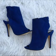 CHINESE LAUNDRY SZ 7 COBALT BLUE SHOES HEELS As seen Chinese Laundry Shoes Ankle Boots & Booties