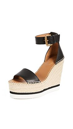 SEE BY CHLOÉ GLYN WEDGE ESPADRILLES. #seebychloé #shoes #