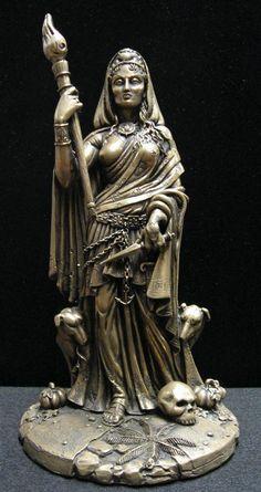 Goddess Hecate / Hekate Statue (Bronze Finish)