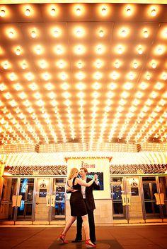 Theatre engagement photos / wedding reception idea #theatrewedding #classic #glam
