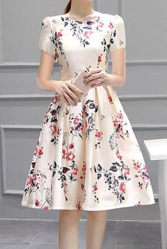 71d68a864314 Womens Vogue Floral Printing Slim Fit Mini Skirts Sleeve Party Dating Dress  in Clothing, Shoes & Accessories, Women's Clothing, Dresses