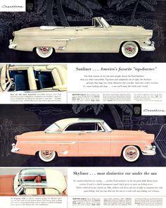 1954 Ford Crestline Sunliner and Skyliner