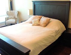 Build Your Own PB-inspired Farmhouse Bed with plans from Ana White
