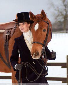 Classic Side Saddle attire. Luv it.