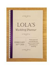 Personalised Brides Wedding Planner