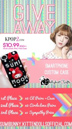 Circle Lens Giveaway! Sponsored by KPOP2 and Dollykat Crafts, JOIN! | Sumibunny's Blog