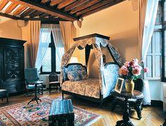 slaapkamer chateau Milandes.
