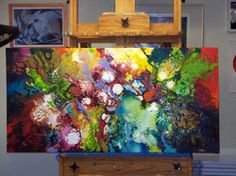 Blog Hop - Sally Trace Abstract Paintings