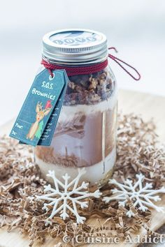 S.O.S. Brownie – Brownies dans un bocal (Cadeau Gourmand) via @cuisineaddict